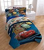 Disney Pixar Cars Twin Comforter, Twin Sheet Set plus BONUS Sham (5 Piece Bedding Set)