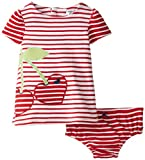 Hartstrings Baby-Girls' Newborn Interlock Striped Dress