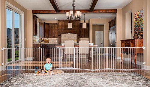 Regalo 192-Inch Super Wide Gate and Play Yard, White (Free Standing Extra Wide Gate compare prices)