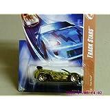 2008 Hot Wheels Yellow Sapphire Trak Tune W/ Gold 10 Sp #112 (12 Of 12)