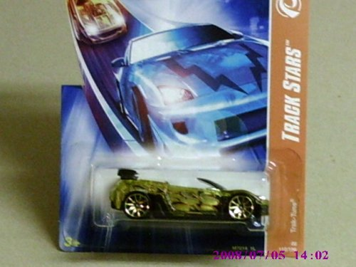 2008 Hot Wheels Yellow Sapphire Trak-Tune w/ Gold 10SP #112 (12 of 12)