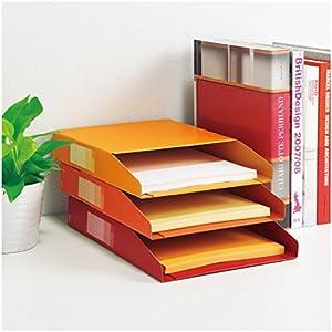 プラス 書類保存箱 デジャヴ ボックストレー 3冊パック A4 ウォームトーン 87-692