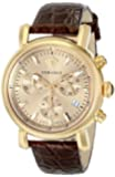 Versace Women's VLB070014 Day Glam Gold-Tone Stainless Steel Watch With Brown Leather Band