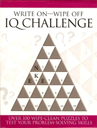 Write On - Wipe Off IQ Challenge: Over 100 Wipe-Clean Puzzles to Test Your Problem-Solving Skills - 1