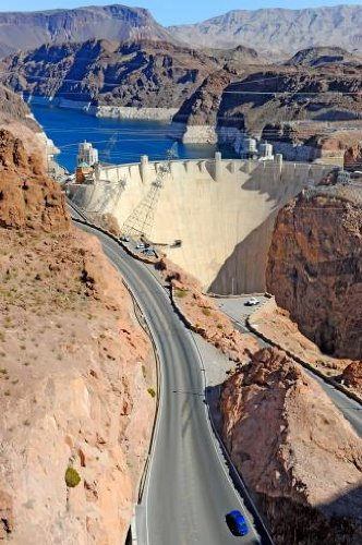 Hoover Dam And Colorado River Wall Decal - 18 Inches H X 12 Inches W - Peel And Stick Removable Graphic front-608406