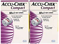 Accu-Chek Compact 51 Test Strips - For use with Compact PLUS Meters Only- PACK OF 2 BOXES by Accu-Check
