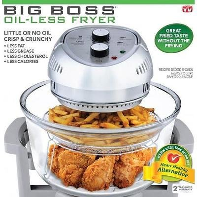 "BIG BOSS 1300-Watt Oil-Less Fryer, 16-Quart New, grey (Length: 15.6"" Width: 15.6"" Height: 10.3"")"