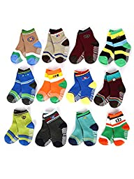 Dimore® 12-Pack Baby Boy\'s Socks Gift Set Socks-have Non-skid Particles