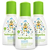 Babyganics Foaming Dish and Bottle Soap, Fragrance Free, On-The-Go 100ml (3.38oz), Bottle (Pack of 3)