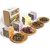 Sense Asia Tea Sampler Gift Set Collection of Loose Leaf Teas - Up to 100 Cups of Tea!