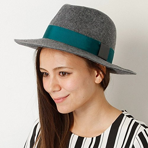 Amazon.co.jp: (ビス) ViS ツバ広カラーフェルトハット BVU4425 07 グレー 07 M: 服&ファッション小物通販