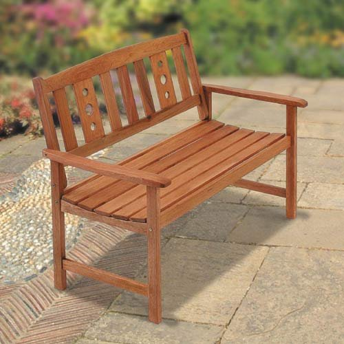 New Mexico 2 Seat Wooden Garden Bench