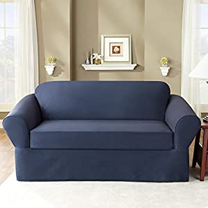 Amazon.com - Sure Fit Stretch Stripe 2-Piece Loveseat ...  |Amazon Sure Fit Slipcovers