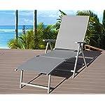 Kozyard Cozy Aluminum Beach Yard Pool Folding Reclining Adjustable Chaise Lounge Chair (Gray)