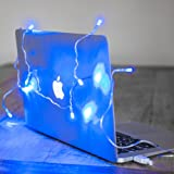 USB Fairy Lights, 10 Blue LEDs on Clear Cable for Mac & PC by Lights4fun
