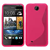 Samrick 'S' Wave Hydro Gel Protective Case for HTC Desire 300 - Pink