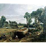 Boat building near Flatford Mill, by John Constable (V&A Custom Print)