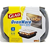 Glad Food Storage Containers, OvenWare 9x12, 96 Ounce, 2 Count (Pack of 6)