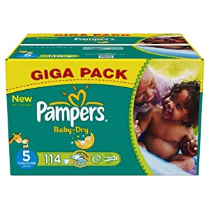 Pampers Baby Dry Size 5 (Junior) Giga Pack 114 Nappies