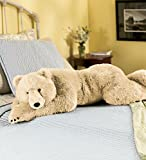 Super-Soft Big Bear Hug Polar Bear Body Pillow with Realistic Accents Bedtime Cuddly Plush Toy Animal 48 L
