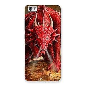 Stylish Red Fantastic Dragon Back Case Cover for Xiaomi Redmi Mi5