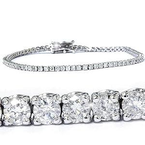 2.00CT Diamond Tennis Bracelet 14K White Gold by Pompeii3 Inc.