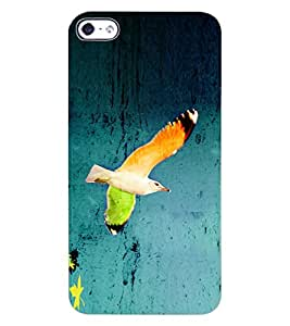 ColourCraft Beautiful Bird Design Back Case Cover for APPLE IPHONE 4S