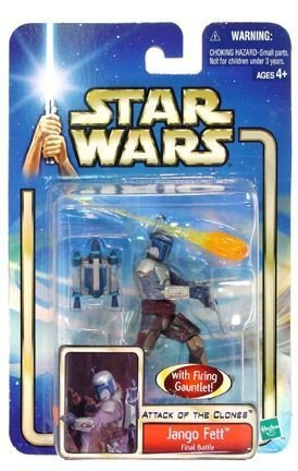 Picture of Hasbro Attack of the Clones Jango Fett Final Battle With Firing Gauntlet Action Figure (B003MNEKN0) (Hasbro Action Figures)
