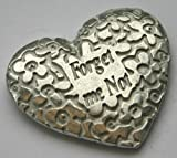 Pewter Forget Me Not Heart