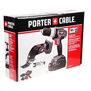 Porter Cable PCCK402N2 18v 2 Tool Combo Kit Drill/Driver & Oscillating Multi-tool NiCd