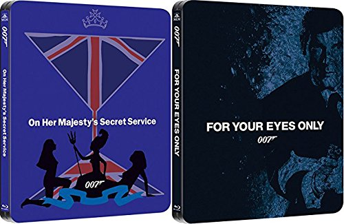 James Bond Steelbook Blu Ray + DHD For your Eyes Only & On Her Majesty's Secret Service 007 Set Limited Edition Collection Roger Moore & George Lazenby