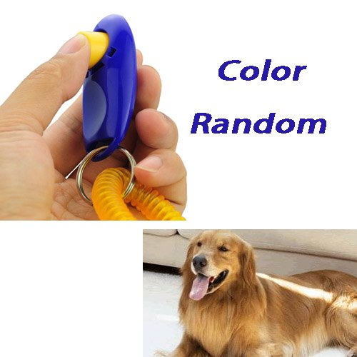 Click Clicker Training Trainer Aid With Wrist Strap For Dog Pet-Color Random front-42796