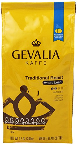 Gevalia Roast And Ground Whole Bean Coffee, Traditional Blend, 12 Oz