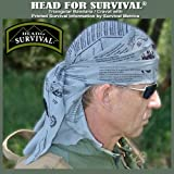 Head for Survival® Triangular Bandana / Cravat with Survival Information - TACTICAL