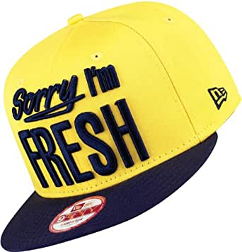 New Era Snapback - SORRY I`M FRESH - Yellow-Navy, Size:S/M