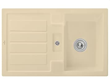 Villeroy & Boch Flavia 45 colour beige para fregadero de cerámica-de fregadero de la instalación de la piscina de la cocina