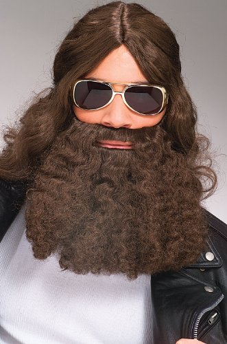 Costume Beard Long Curly Character Beard & Mustache Long Fake Beard 2046
