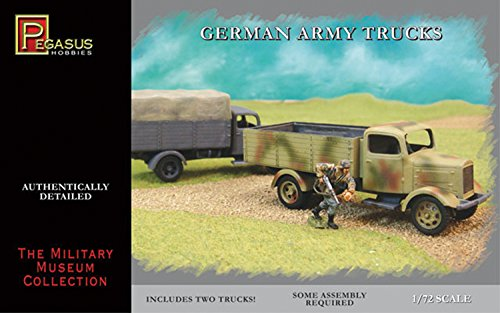 German Army Trucks (2) (Snap Kit) 1-72 Pegasus - 1