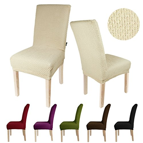 Housse chaise - Housse de chaise beige ...