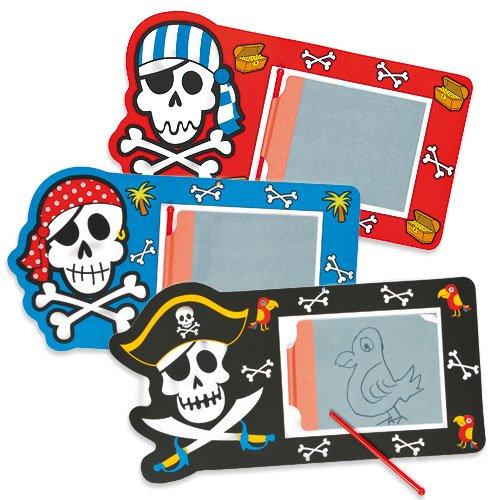 Lot de 6 Ardoises Magiques - Motif Pirates - Idéal comme cadeau à offrir