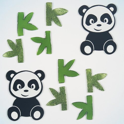 GelGems Playful Pandas Small Bag Gel Clings - 1
