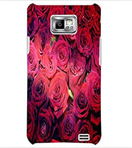 PrintDhaba Roses D-4852 Back Case Cover for SAMSUNG GALAXY S2 (Multi-Coloured)
