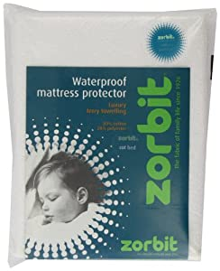 Zorbit Terry Waterproof Matt Pro Cot Bed (White) by Quilt & Pillow Co