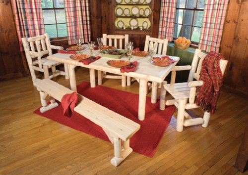 CEDAR LOG SOLIDTOP DINING TABL