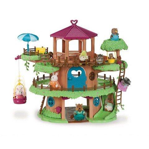 Woodzeez Family Treehouse Playset (Lil Woodzeez Treehouse compare prices)
