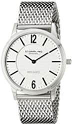 """Stuhrling Original Men's 122.33112 """"Classic Ascot Somerset Elite"""" Stainless Steel Watch with Mesh Band"""
