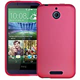 Pink XYLO-GEL Skin / Case / Cover for the HTC Desire 510 Mobile Phone. Includes ClearICE Screen Protector Guard.