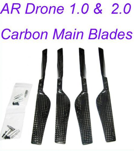 Parrot Ar Drone 1.0 & 2.0 Real Carbon Propeller Main Blades (2A+2B)