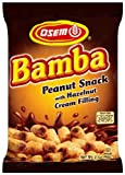 Osem Bamba Peanut Snack with Hazelnut Cream Filling, 2.1-Ounce Packages (Pack of 18)