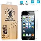 tinxi® Tempered Explosionsgeschützte Glass Hartglas für Apple iPhone 5 5S 5C Premium Screen Protector Ultra Hart Panzerfolie Displayschutz 2.5D 0,3mm